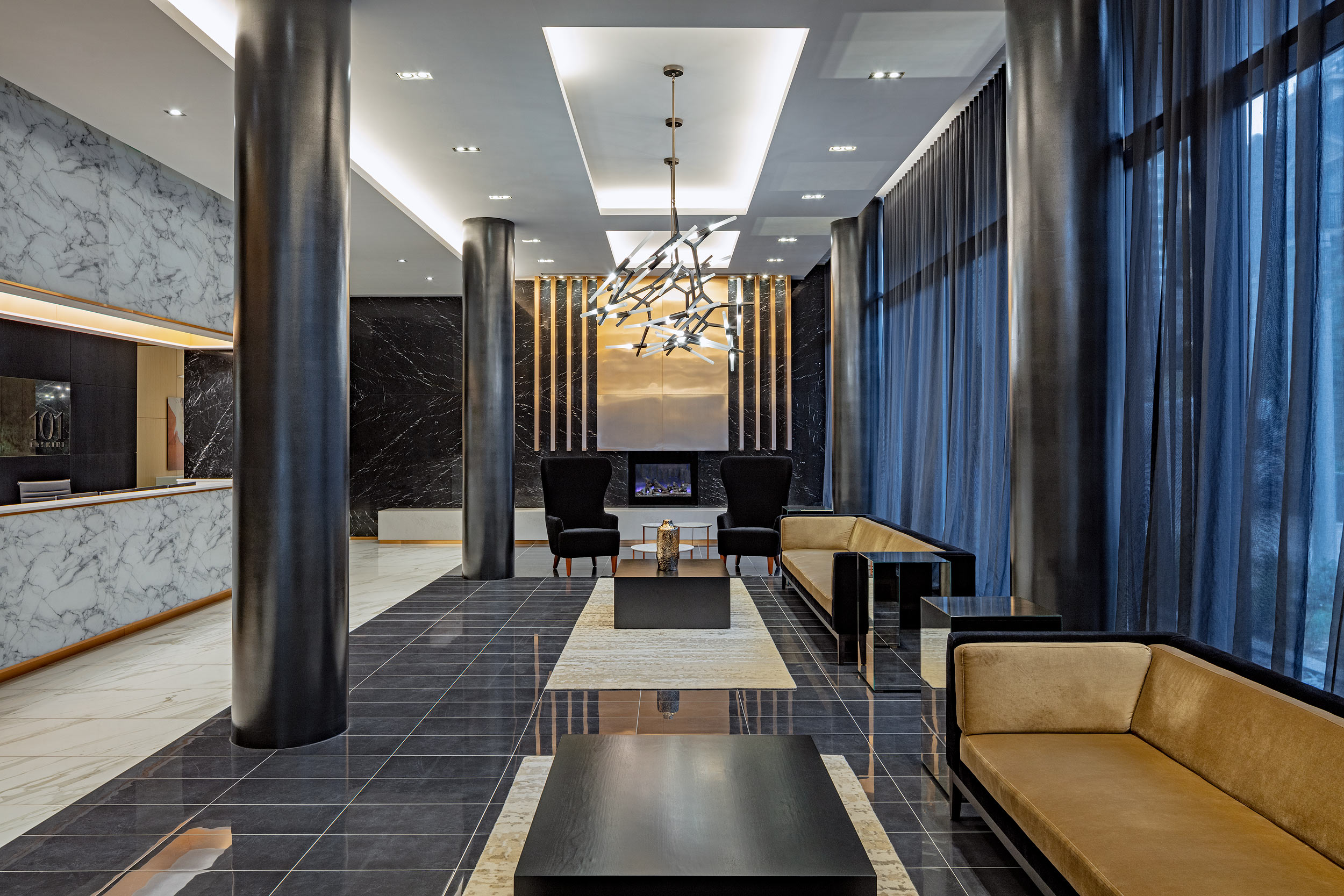 Condominium lobby, Peter A. Sellar Architectural Photographer