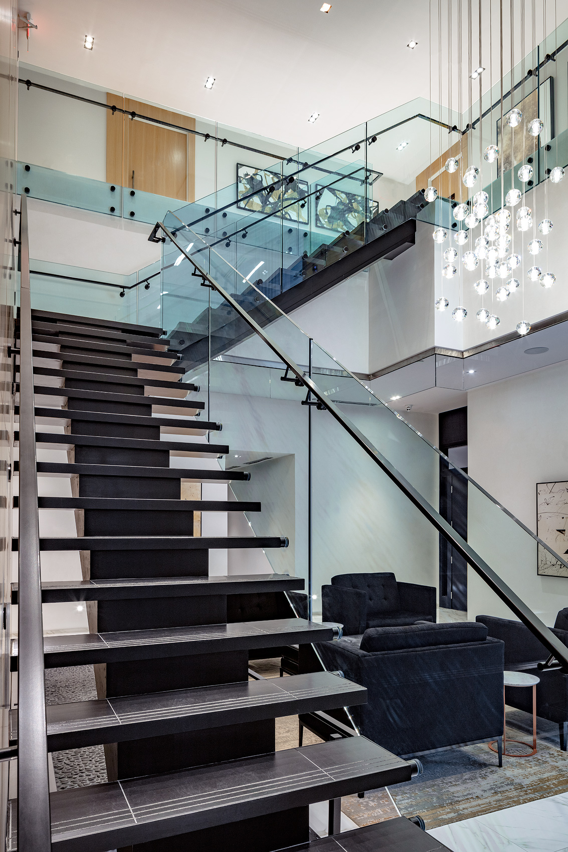 Floating stairs, Peter A. Sellar Architectural Photographer