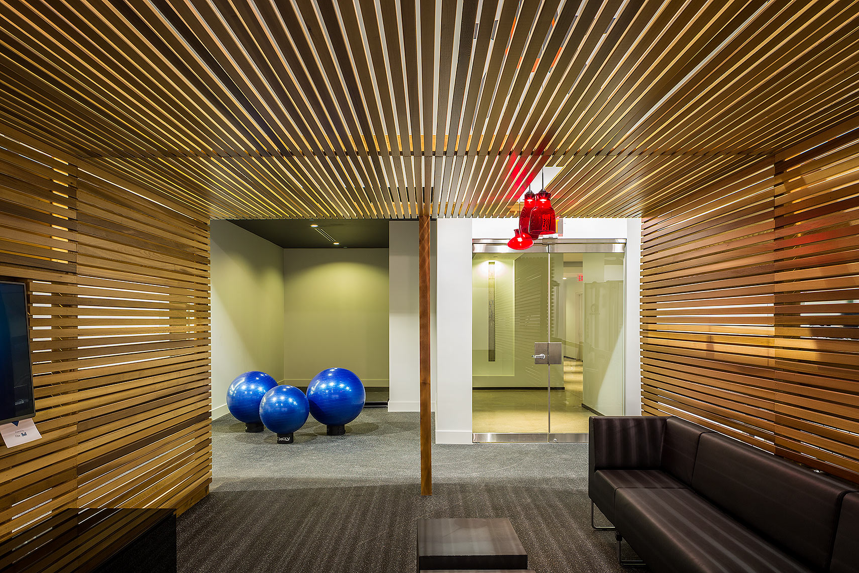 Gym in a condominium Peter A. Sellar Architectural Photographer