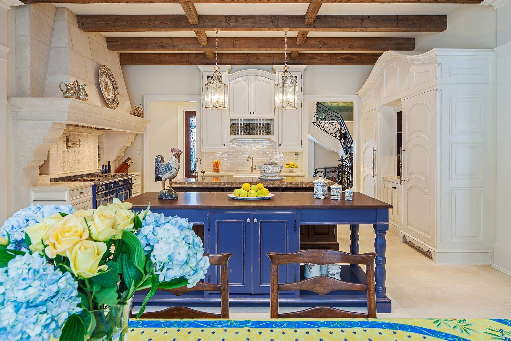 Kitchen with La Cornue oven by Peter A. Sellar Architectural Photographer