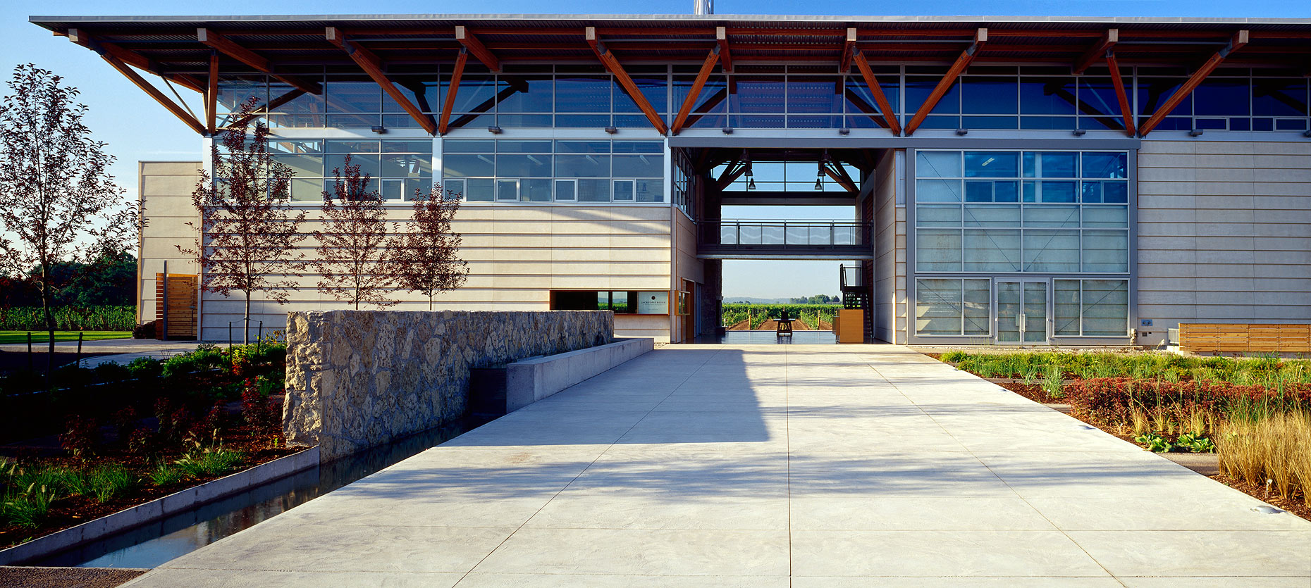 Entrance of Jackson Triggs winery Peter A. Sellar Architectural Photographer