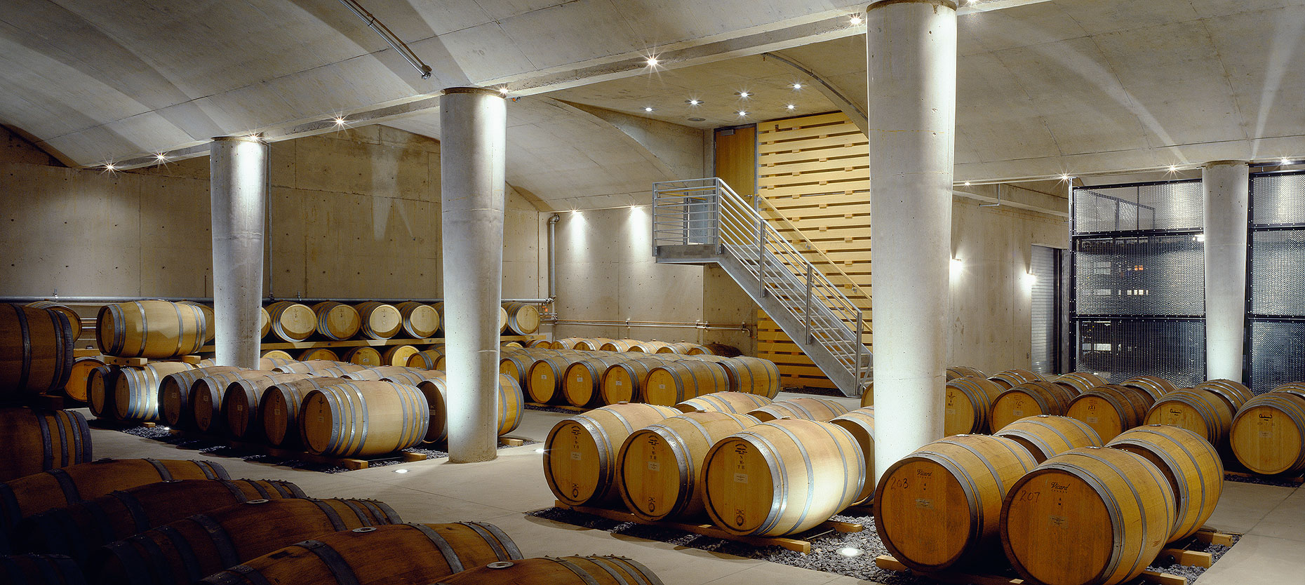 Barrel cellar Jackson-Triggs winery Peter A. Sellar Architectural Photographer
