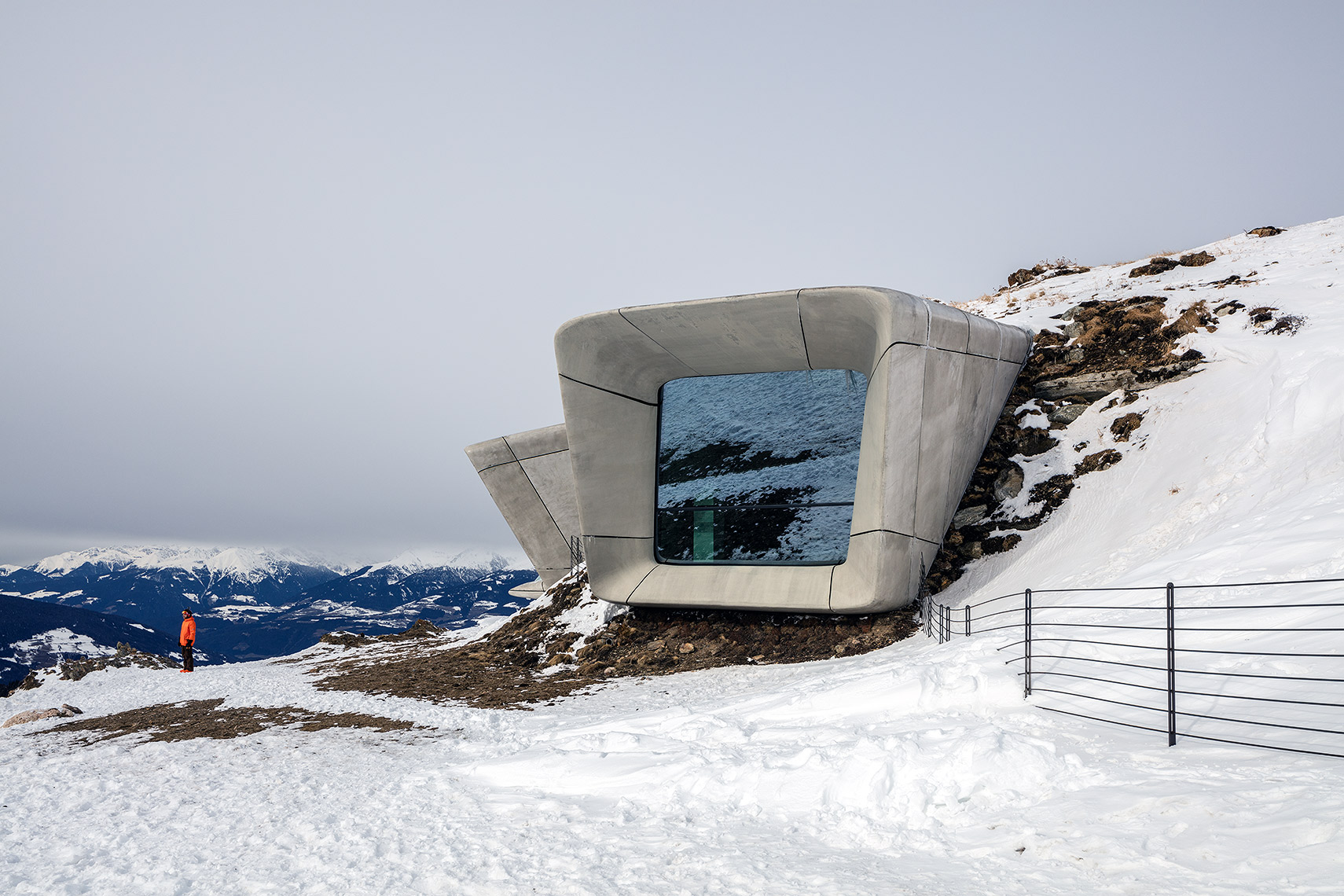 Exterior of Mountain Museum Corones, Peter A. Sellar Architectural Photographer