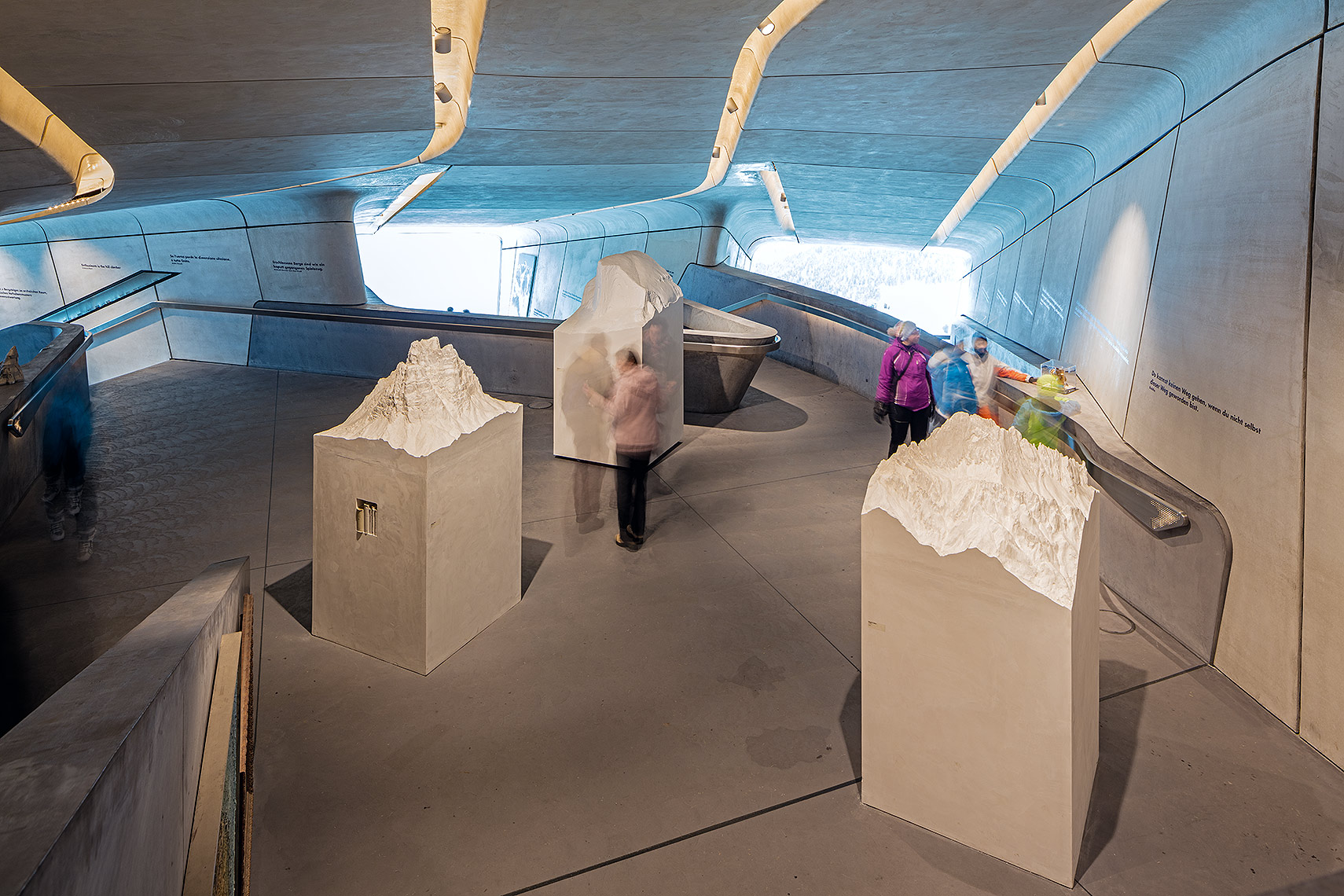 Interior of Messner Museum Corones, Peter A. Sellar Architectural Photographer