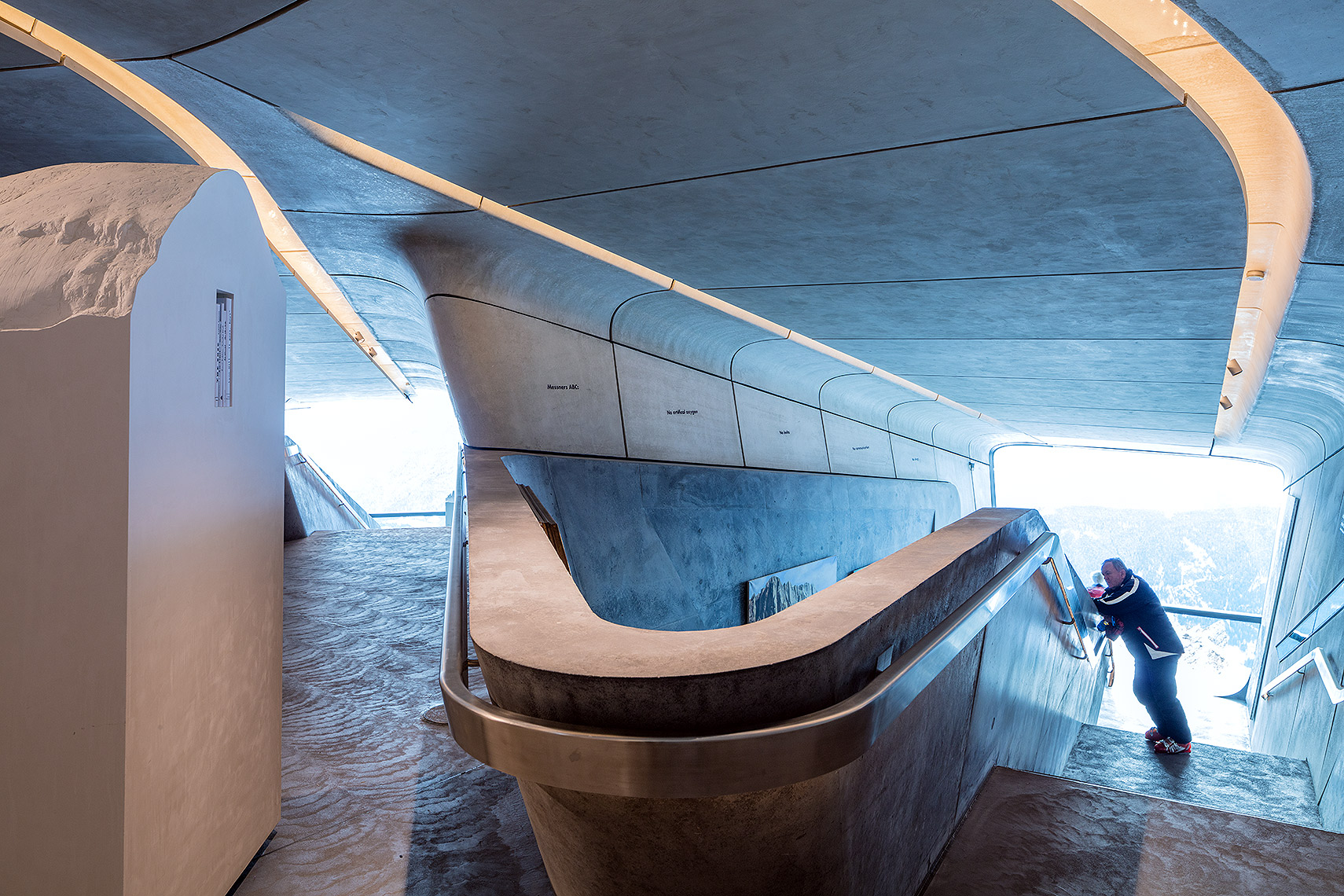 Messner Museum Corones interior, Peter A. Sellar Architectural Photographer