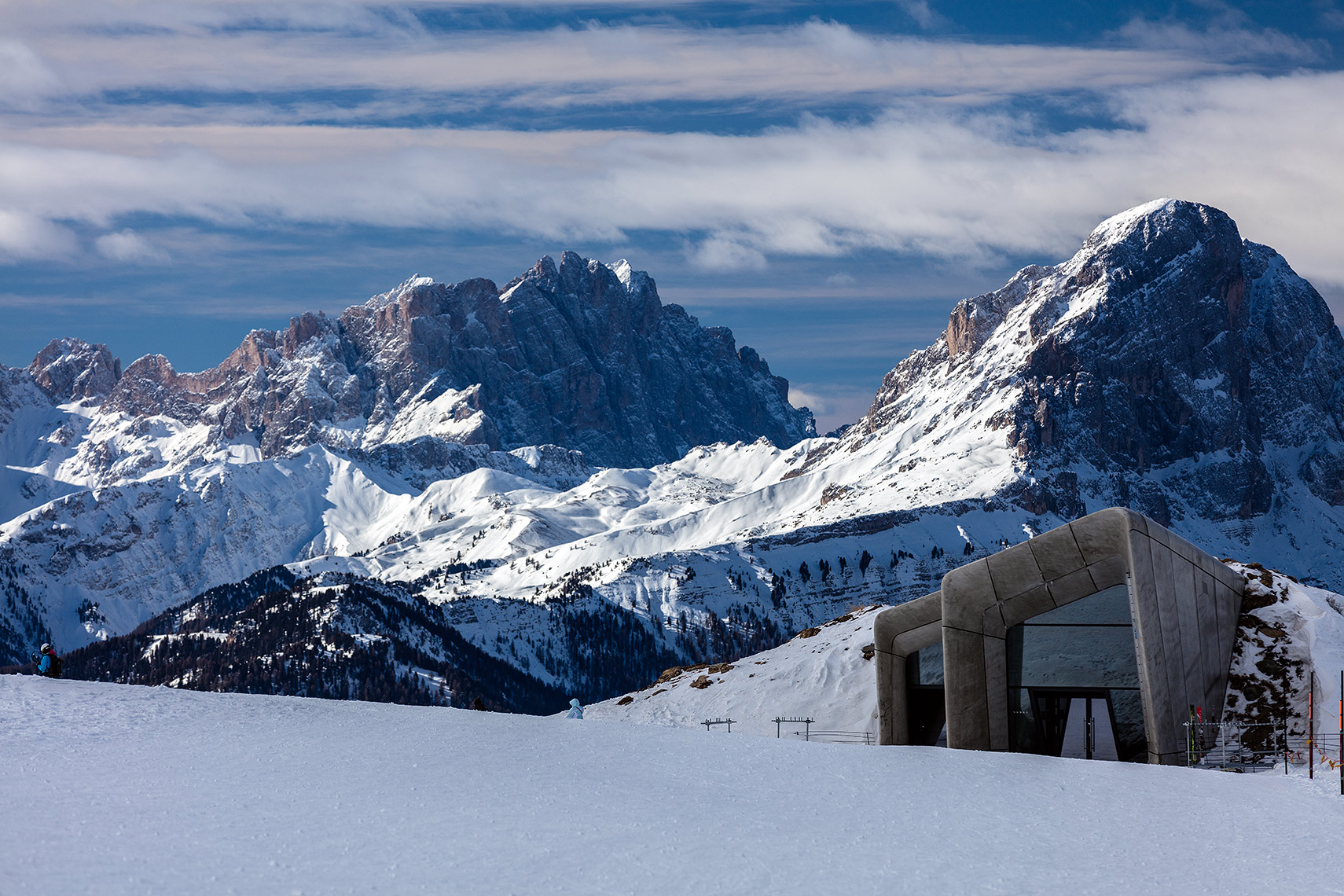 Messner museum and the peaks, Peter A. Sellar Architectural Photographer