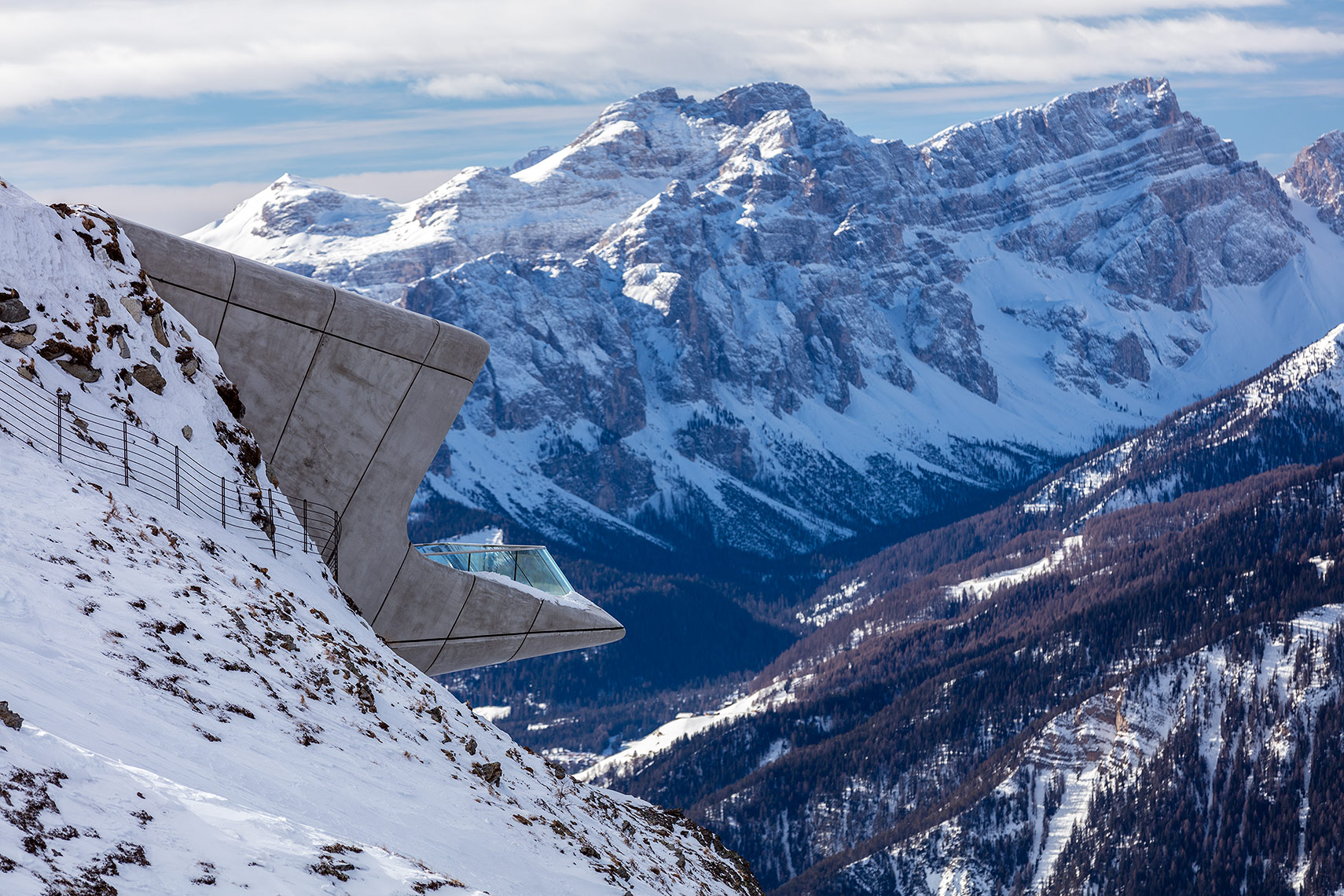Observation deck of Messner museum, Peter A. Sellar Architectural Photographer