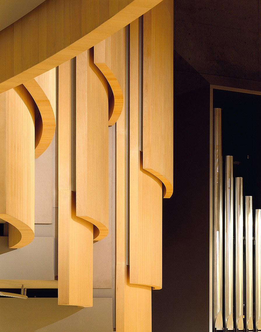 Acoustic panels and organ pipes detail Peter A. Sellar Architectural Photographer