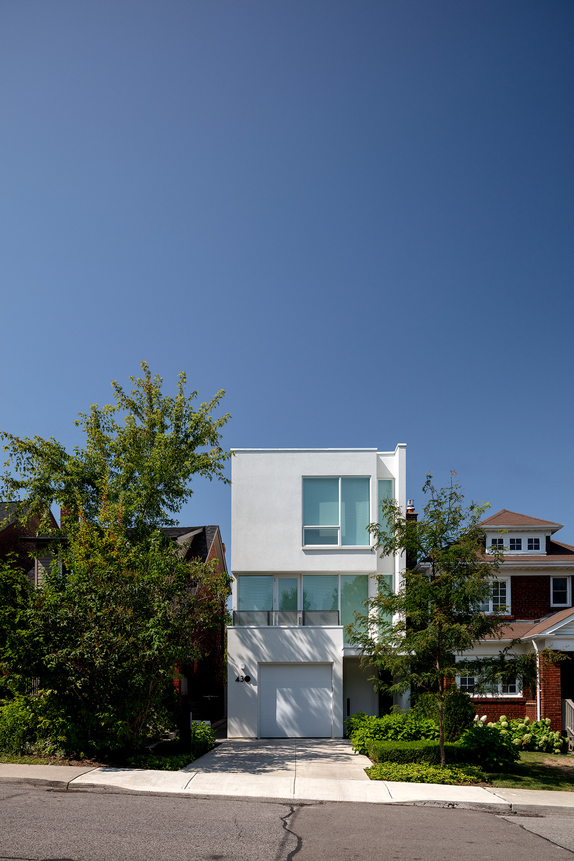 Exterior of a modern house, Peter A. Sellar Architectural Photographer