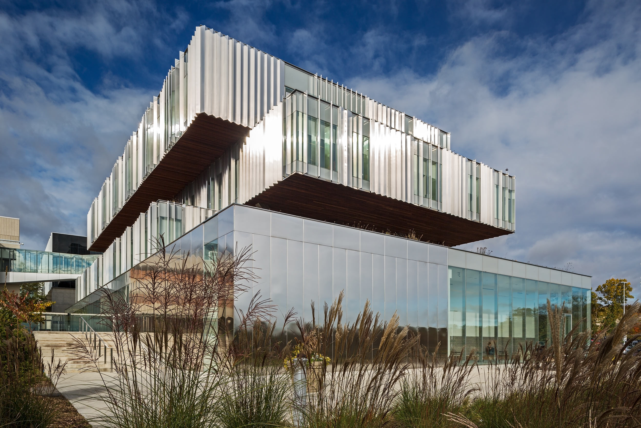 Modern stainless steel exterior Architectural Photography by Peter  A. Sellar