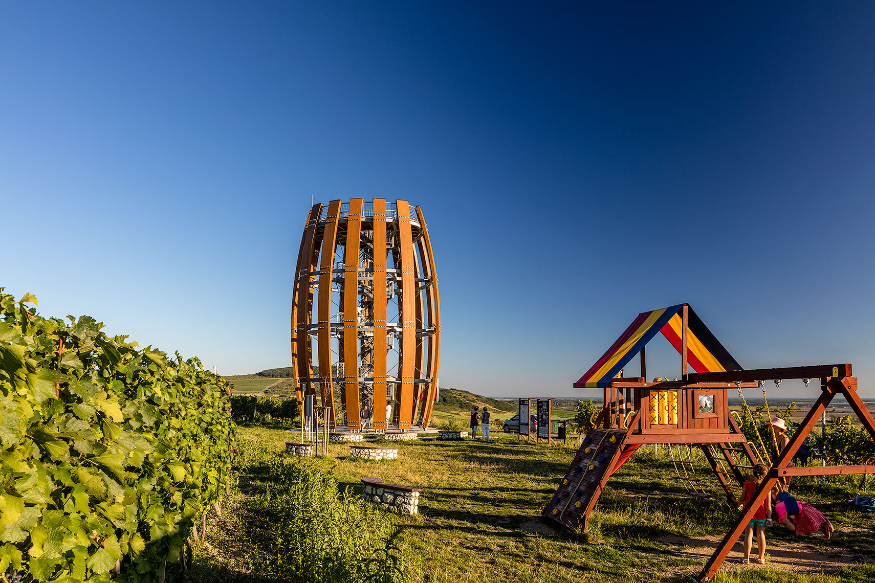 Tokaj tower and playground, Peter A. Sellar Architectural photographer