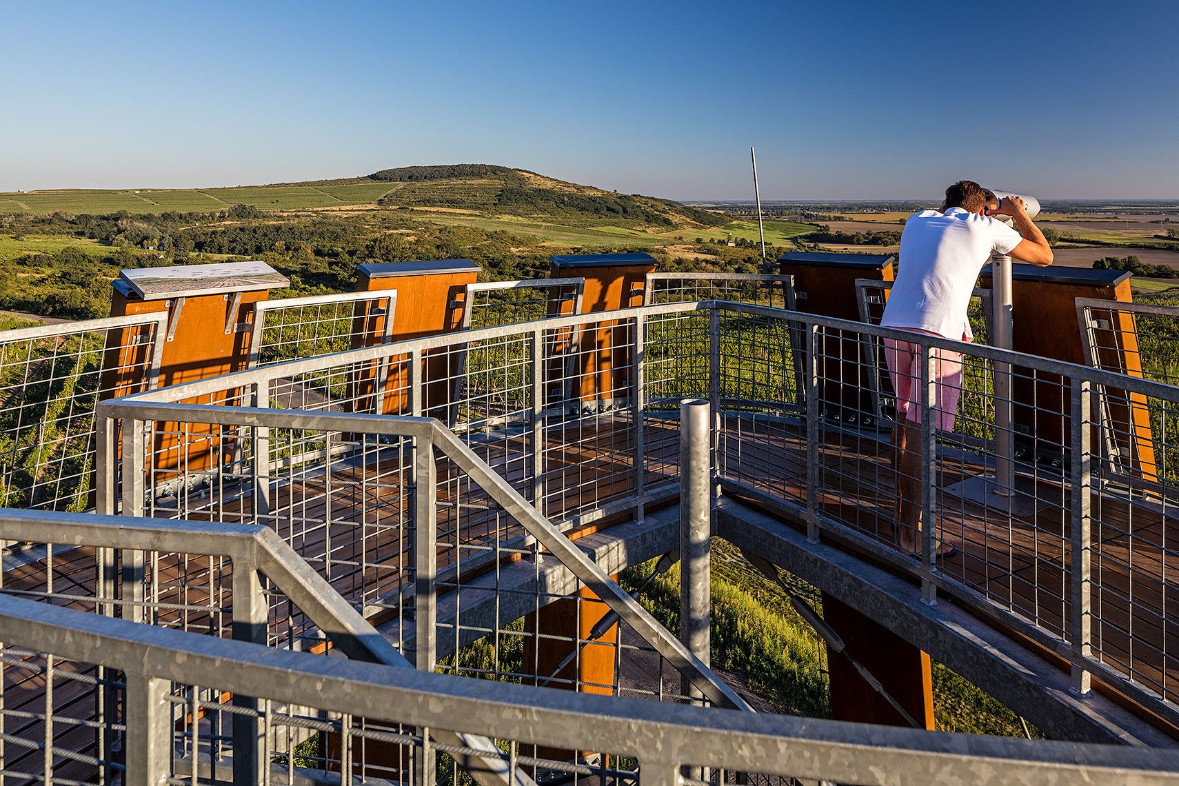 Top platform of the Tokaj tower, Peter A. Sellar Architectural Photographer