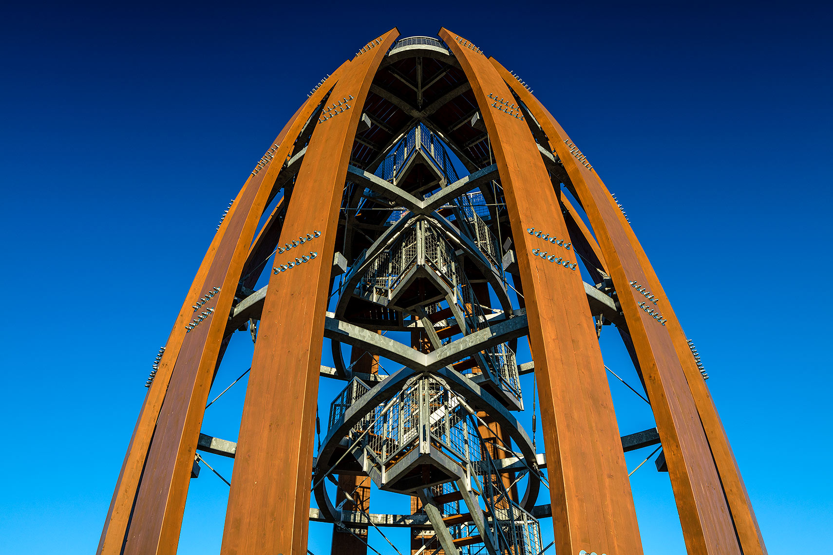 Detail of the Tokaj observation tower, Peter A. Sellar Architectural Photographer