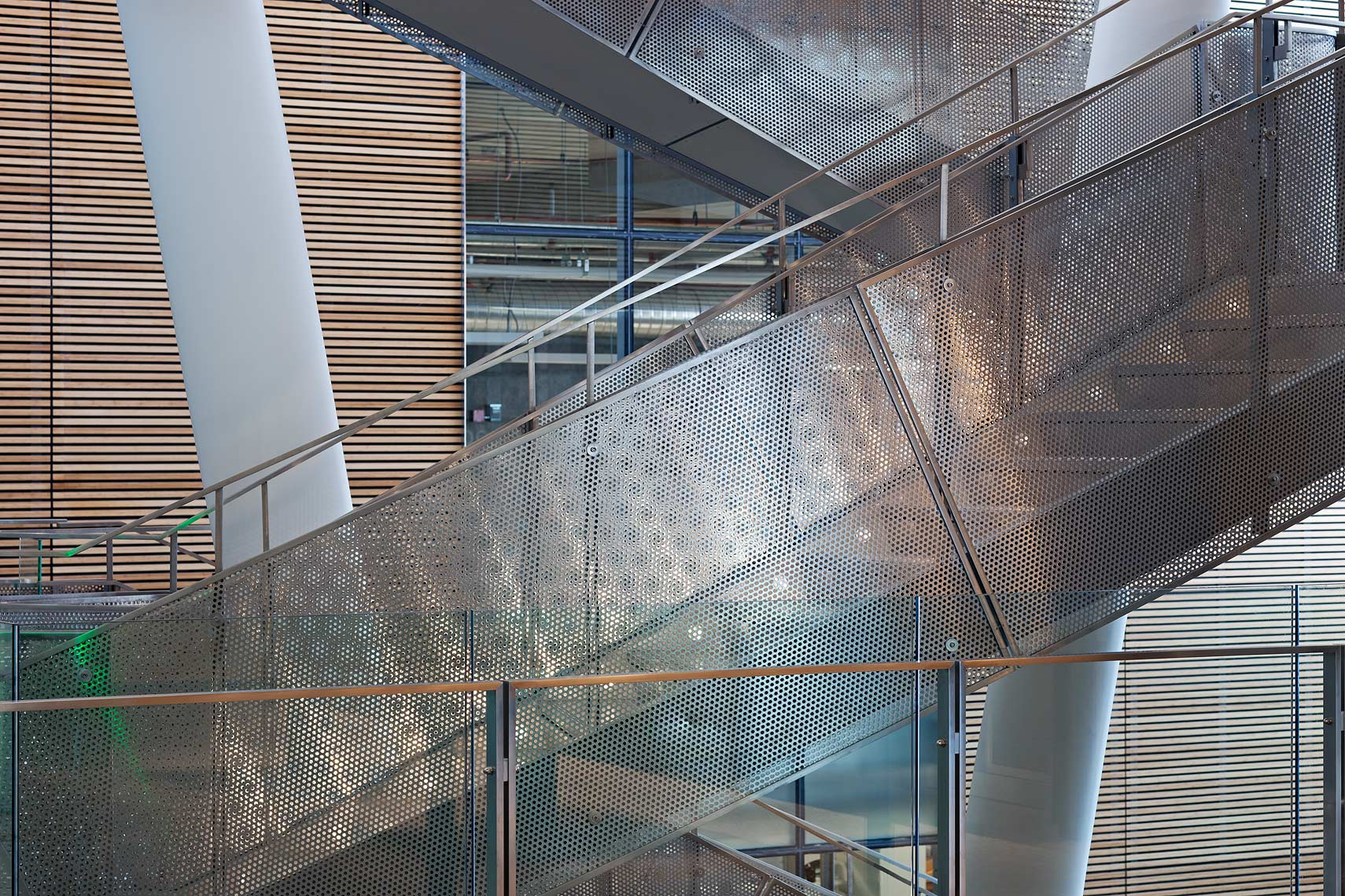 Steel mesh staircase Peter A. Sellar Architectural Photographer